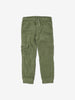 Unisex Green Corduroy Kids Cargo Trousers 1-6y