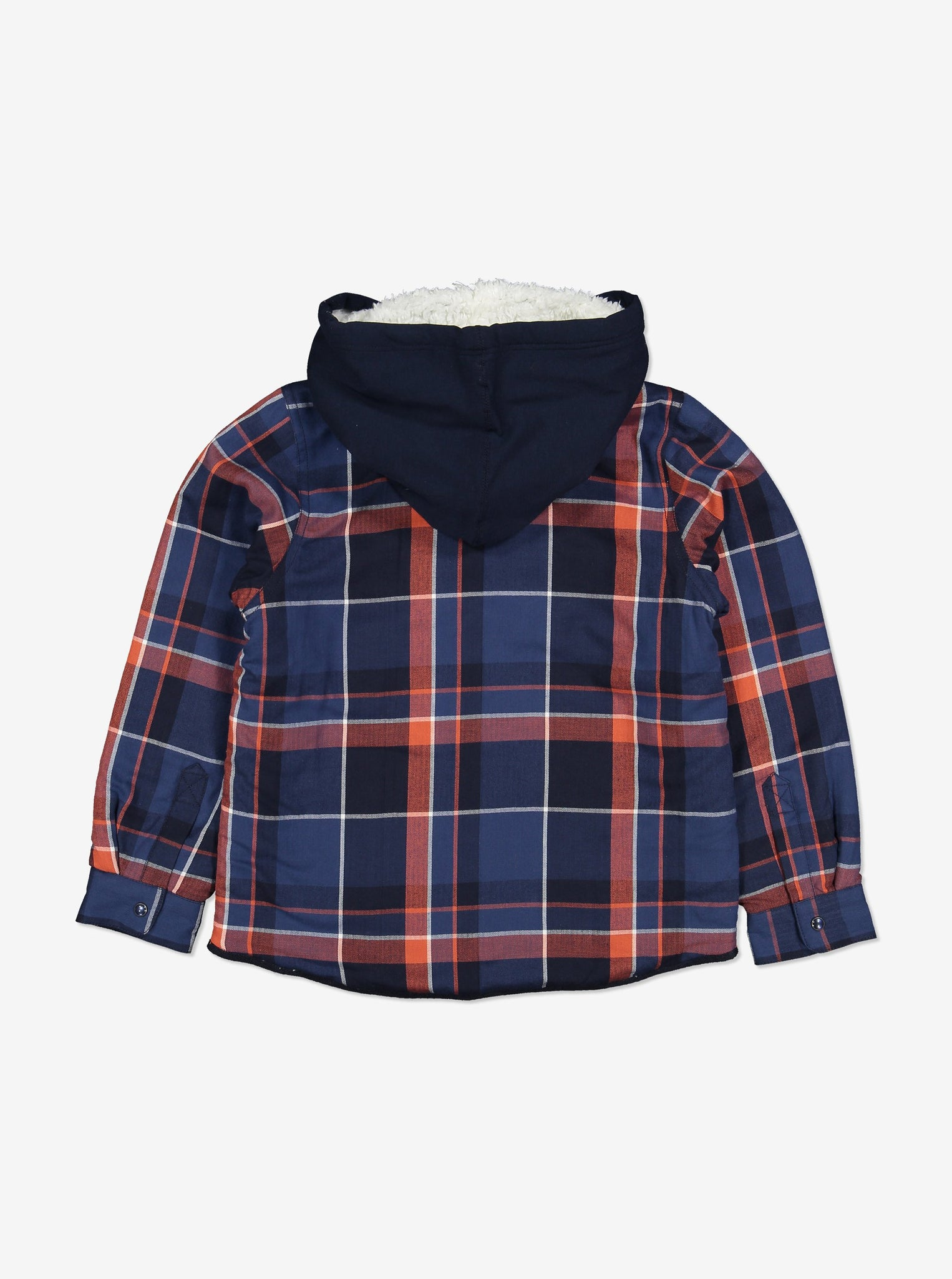 Fleece Lined Kids Shirt-Unisex-1-12y-Navy
