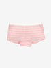Striped Girls Boxer Briefs-Girl-1-12y-Pink