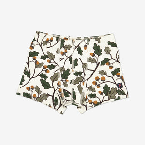 Acorn Print Boys Boxers-Boy-1-12y-Natural