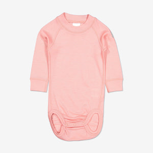 Thermal Merino Baby Bodysuit-0-2y-Pink-Girl