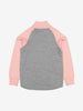 Thermal Terry Merino Kids Zip Top-6m-12y-Pink-Girl