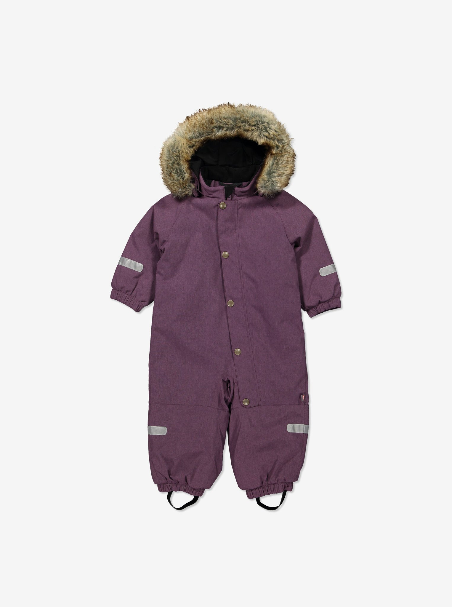 Baby Waterproof Padded Winter Overall-9m-2y-Purple-Girl