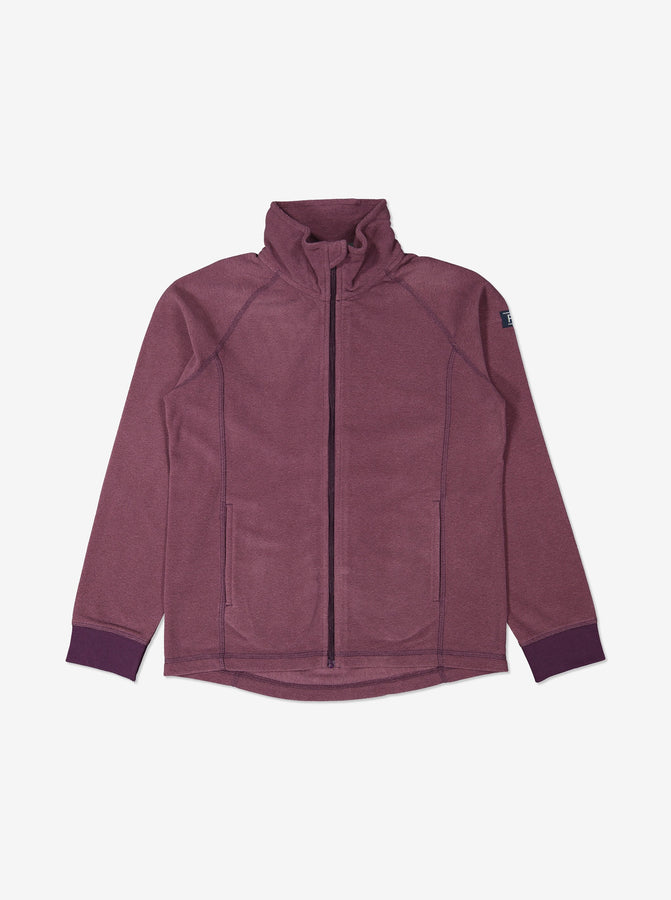 Kids Purple Thermal Fleece Zip Top