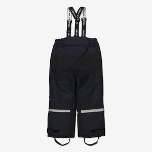 Waterproof Padded Kids Winter Trousers-2-10y-Navy-Boy