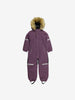 Kids Waterproof Padded Winter Overall-2-6y-Purple-Girl
