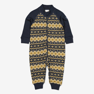 Nordic Thermal Merino Baby All-in-one-1m-3y-Navy-Boy