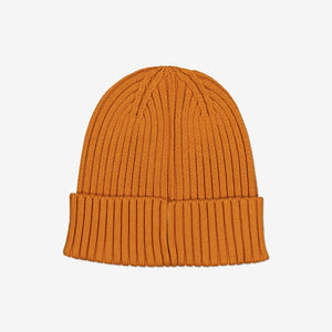Rib Knit Kids Hat-2-12y-Brown-Boy