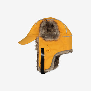 Fir Trim Kids Hat-1-9y-Yellow-Unisex