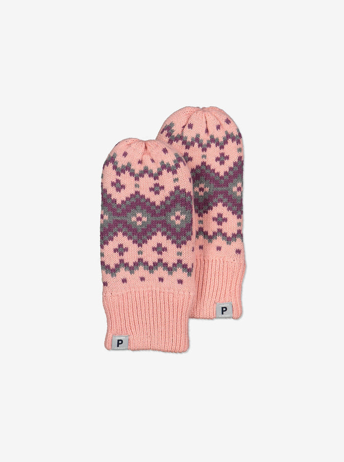 Nordic Wool Kids Gloves-6m-9y-Pink-Girl