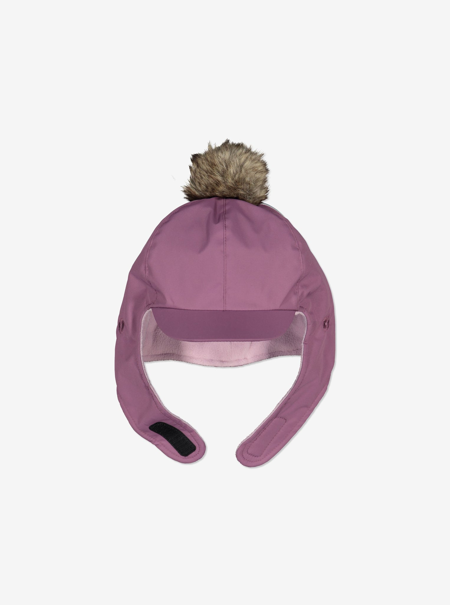 Waterproof Kids Bobble Hat-6m-2y-Purple-Girl