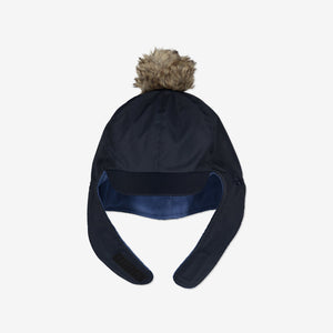 Waterproof Kids Bobble Hat-6m-2y-Navy-Boy