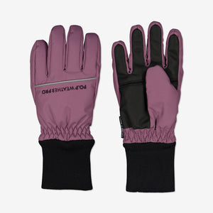 Kids Padded Winter Gloves-2-12y-Purple-Girl