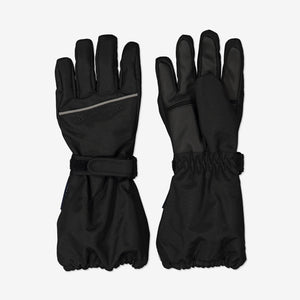 Padded Kids Ski Gloves-2-12y-Black-Boy