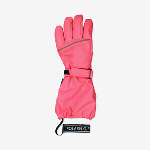 Padded Kids Ski Gloves-2-12y-Pink-Girl
