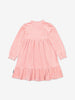 Girls Pink Velour Kids Dress 1-6y