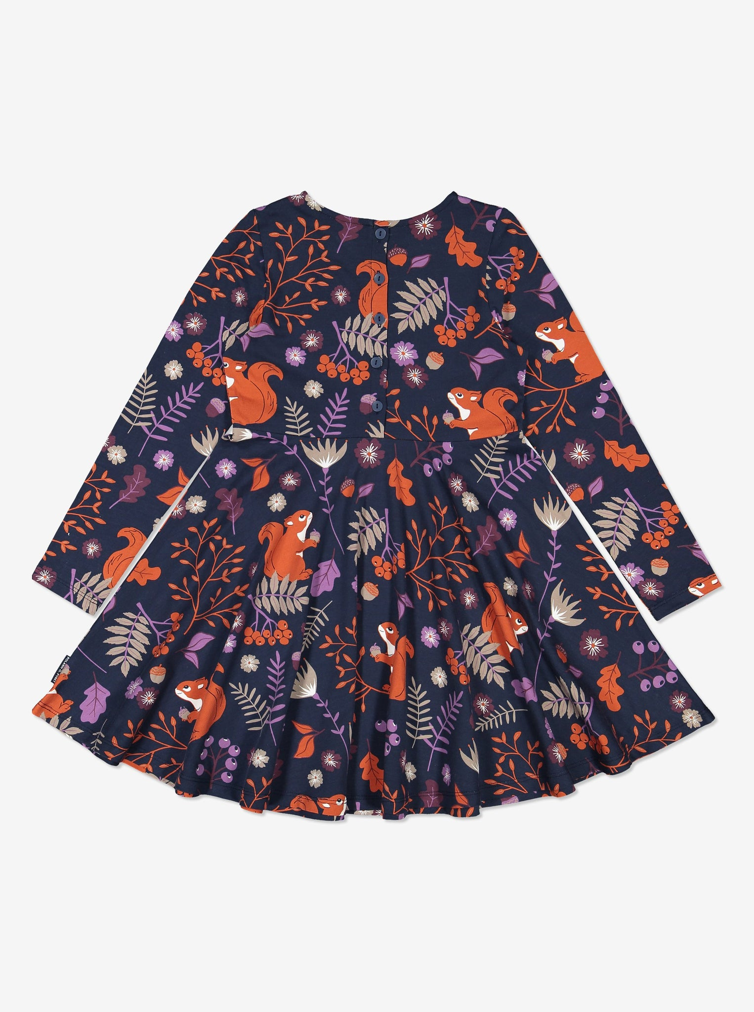 Girls Navy Nordic Kids Dress 1-6y