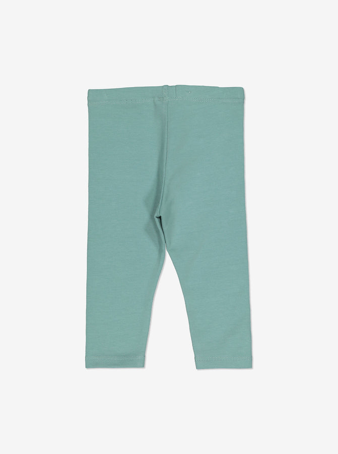 Girls Blue Organic Baby Leggings 0-1y