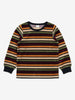 Unisex Navy Striped Velour Kids Top 1-8y