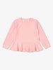 Girls Pink Glitter Stripe Kids Top 1-6y
