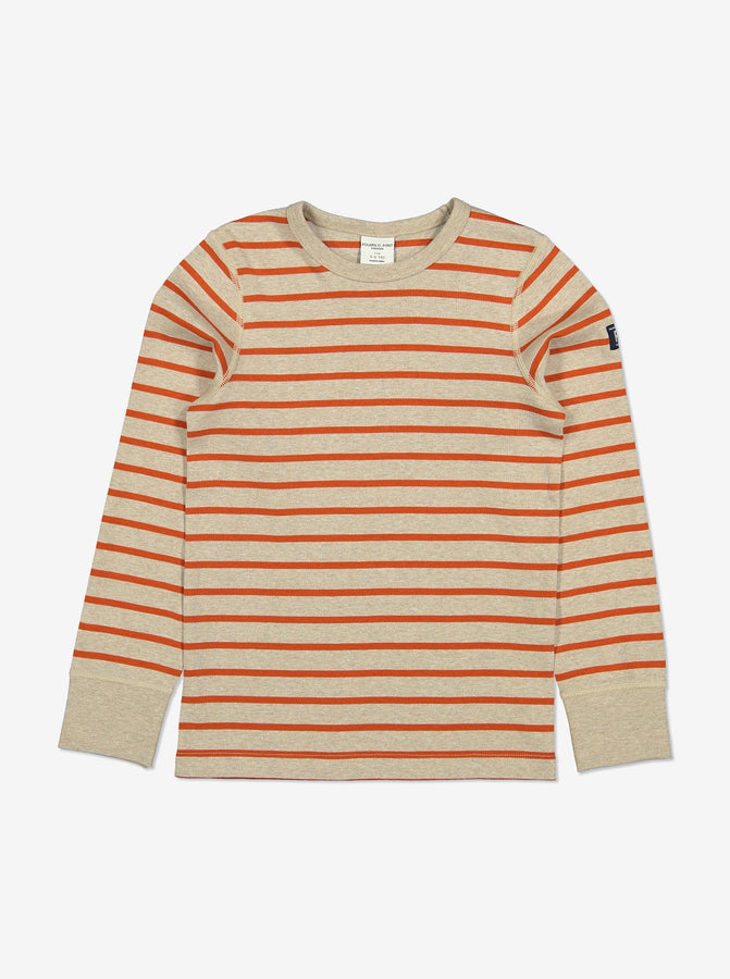Unisex Red Striped Kids Top 1-6y