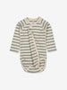 Unisex Green Striped Wraparound Baby Bodysuit 0-1y