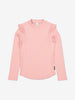 Girls Pink Ribbed Kids Top 6-12y