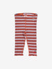 Girls Pink Striped Ribbed Baby Leggings 0-1y