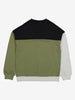 Boys Green Block Colour Kids Sweatshirt 6-12y