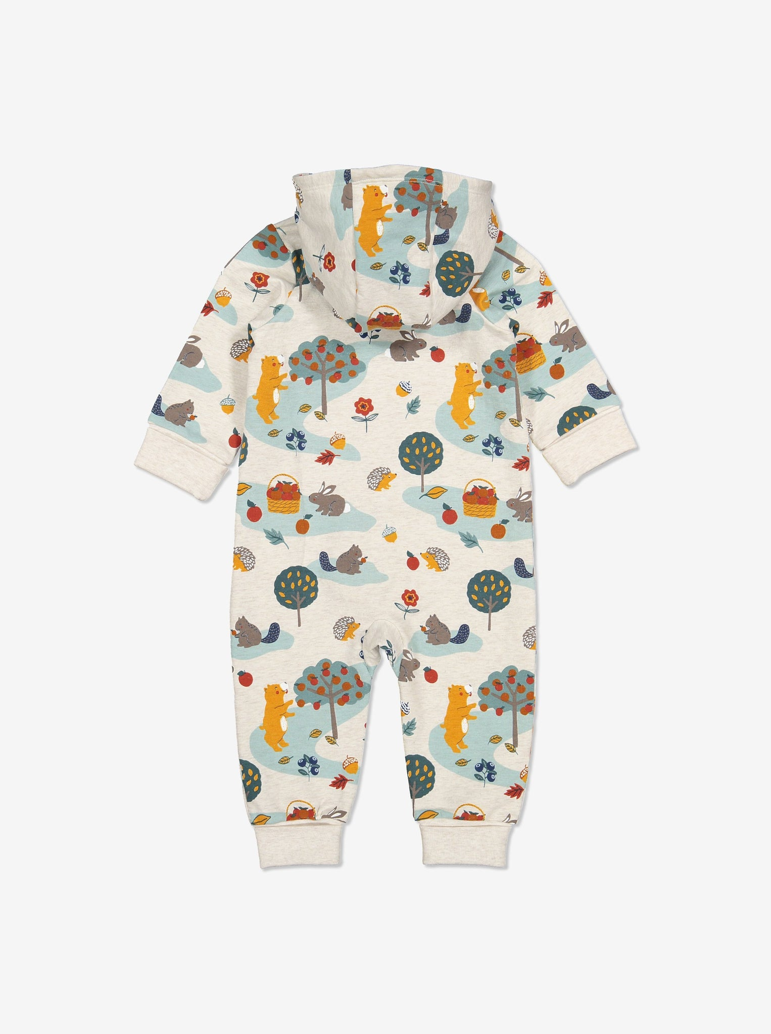 Unisex White Nordic Nature Baby All-in-one 0-1y
