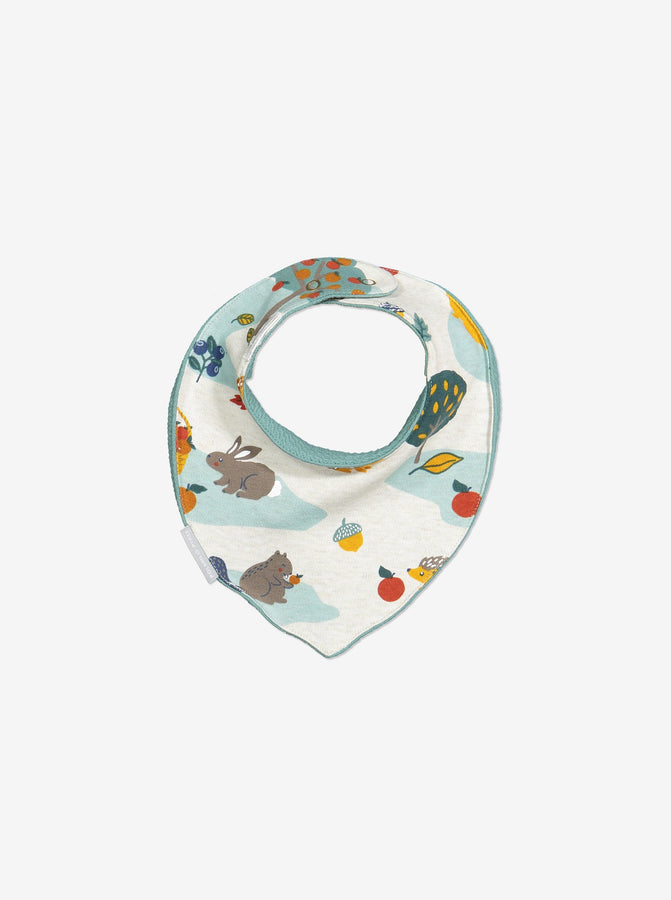 Unisex Blue Nordic Nature Baby Bib One Size