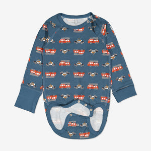 Vehicle Print Baby Bodysuit-Unisex-6m-2y-Blue