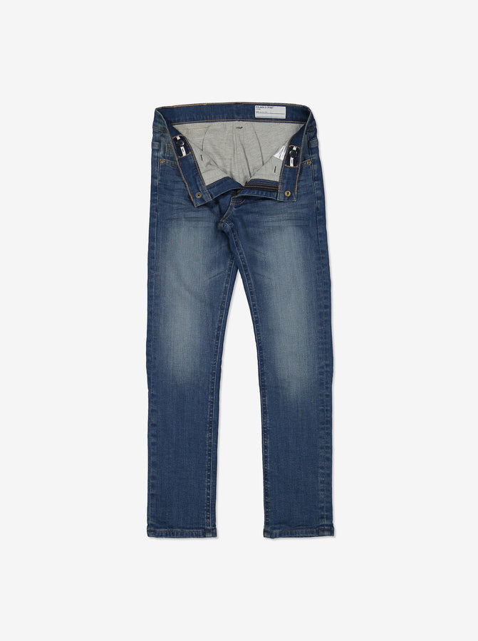 Lined Slim Fit Kids Jeans-Unisex-6-12y-Blue
