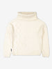 Girls Black Roll Neck Kids Sweater 6-12y