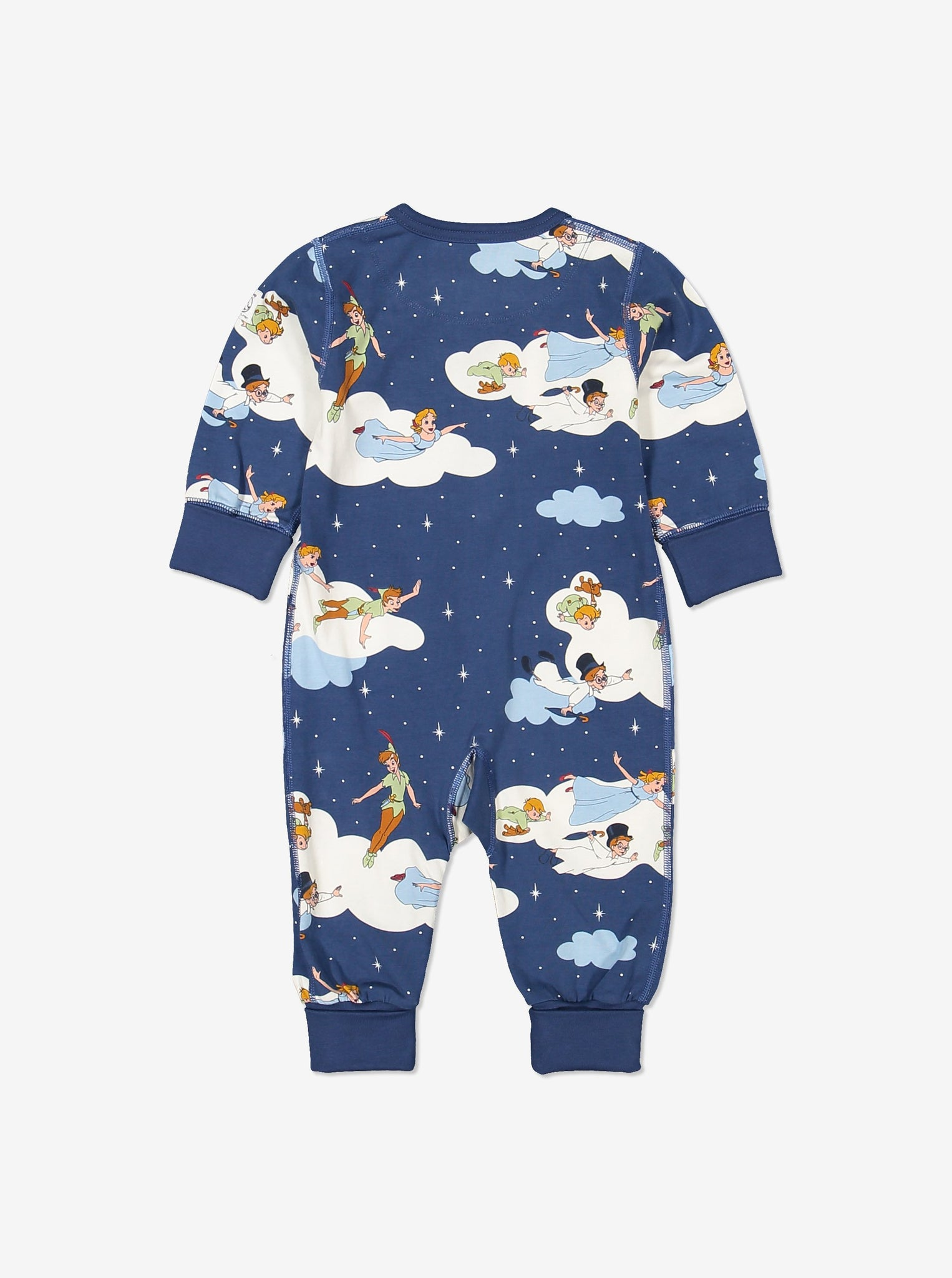 Kids Organic Cotton Peter Pan Onesie 0-4years Blue Unisex