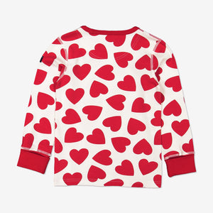 Kids Heart Organic Cotton Print Pyjamas 1-12years Red Girl