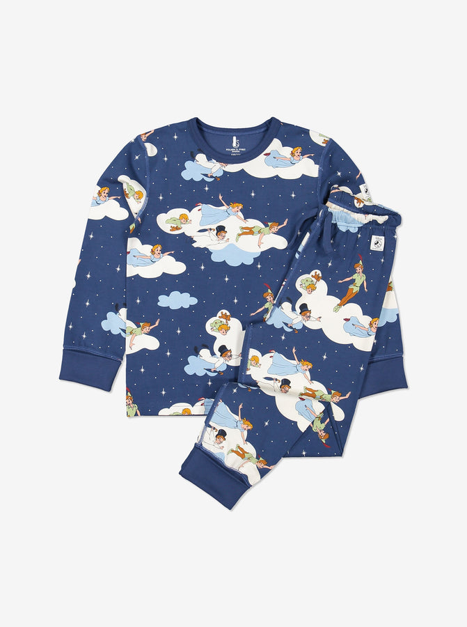 Kids Organic Cotton Peter Pan Pyjamas 1-12years Blue Boy