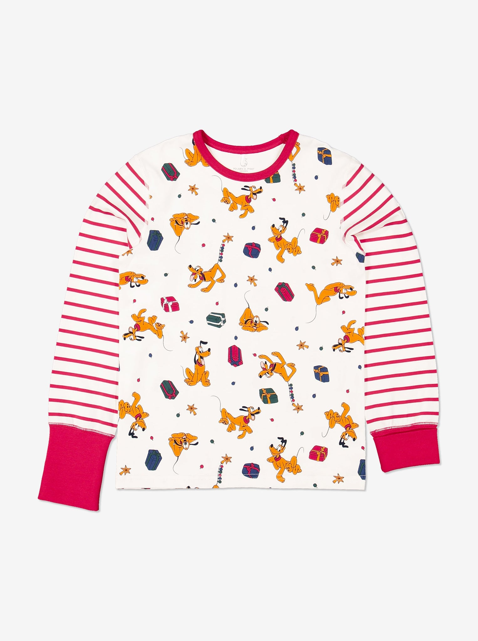 Organic Pluto Print Kids Pyjamas 1-12years Natural Unisex