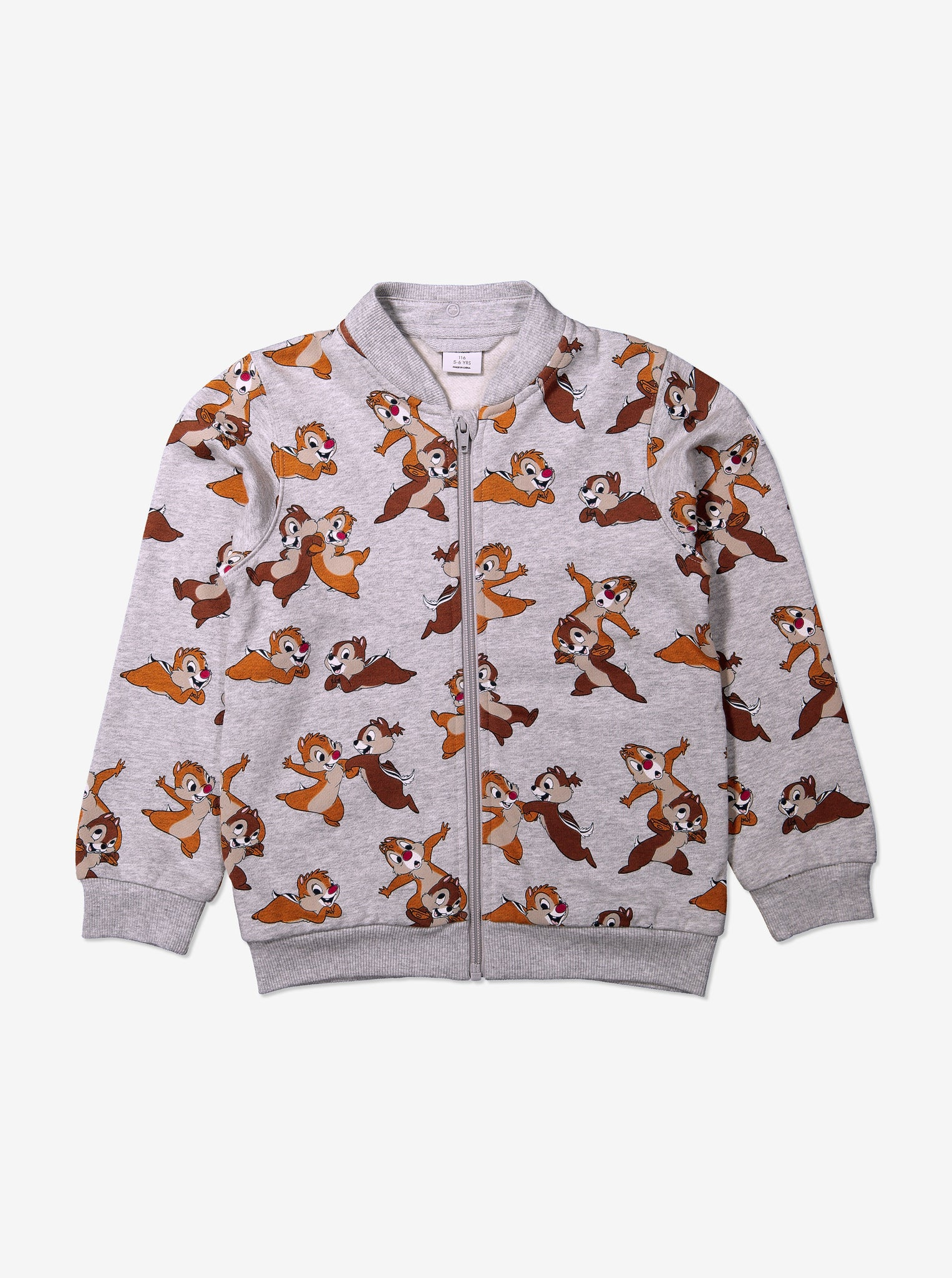 Chip 'n' Dale Print Kids Hooded Jacket