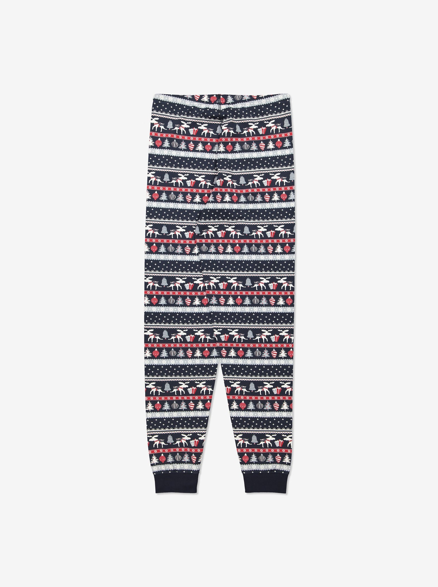 Adult Organic Cotton Christmas Pyjamas XS-XL Navy Unisex