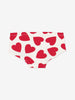 Girls heart Print Briefs 1-12years Natural Girl