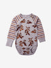 Chip 'n' Dale Organic Cotton Baby Newborn Babygrow 6months-2years Grey Unisex