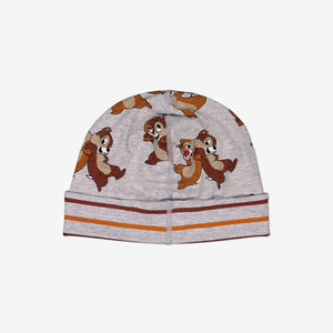 Chip 'n' Dale Organic Cotton Baby Beanie 1month-2years Grey Unisex