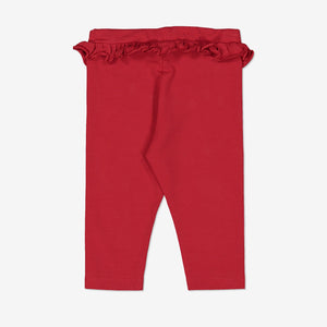 Kids Organic Leggings 0-1years Red Girl