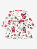 Kids Organic Floral Dress 0-1years Natural Girl
