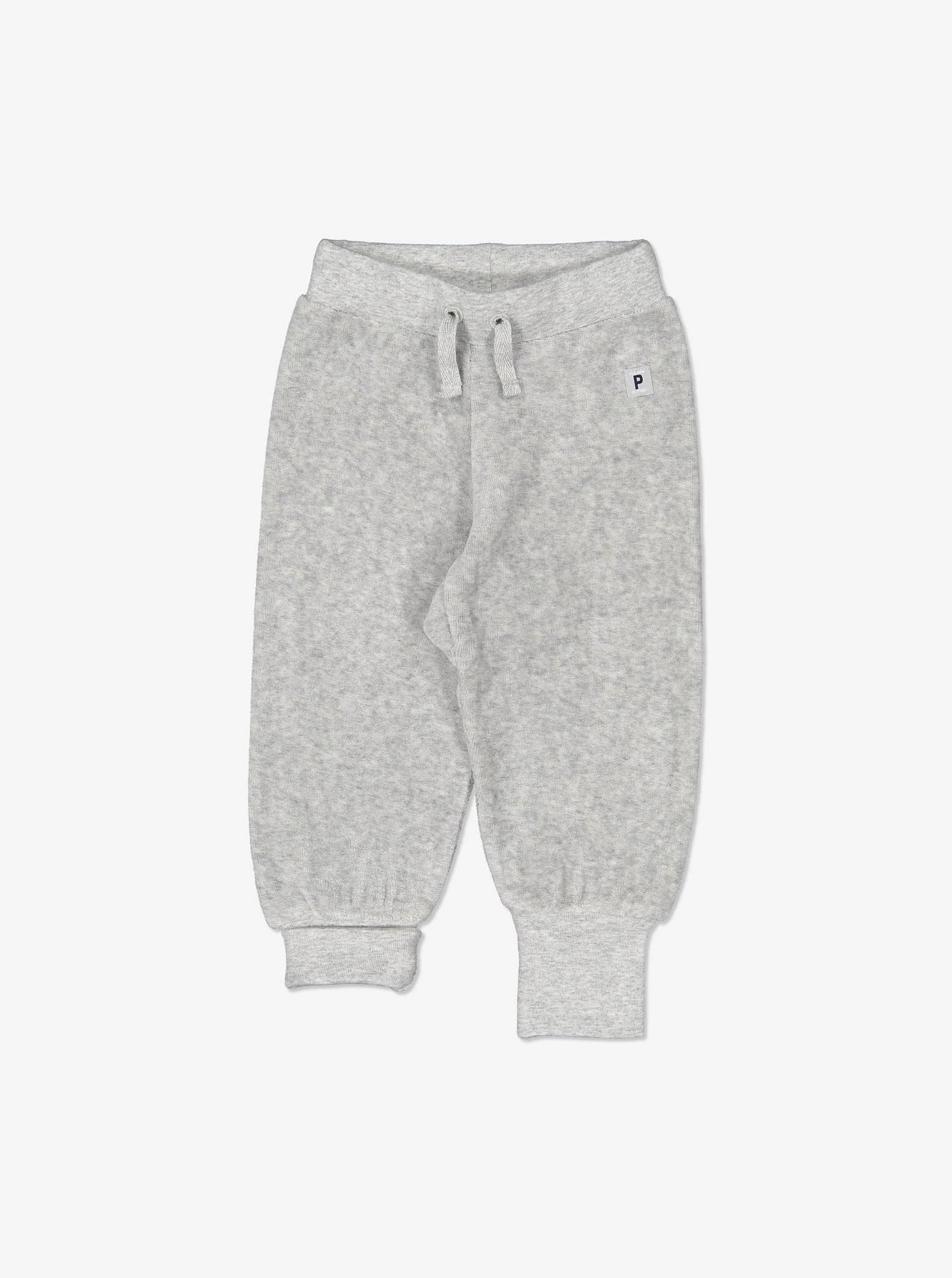 Kids Soft Velour Trousers 0-1years Grey Unisex