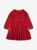 Kids Velour Dress 1-8years Red Girl