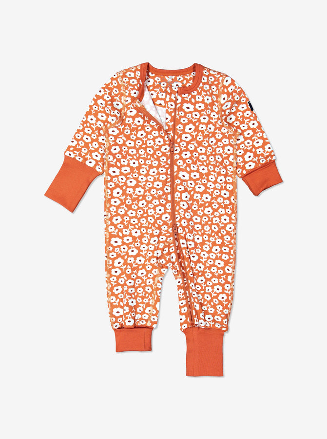 Toddler Girls Organic Cotton Flower All-In-One