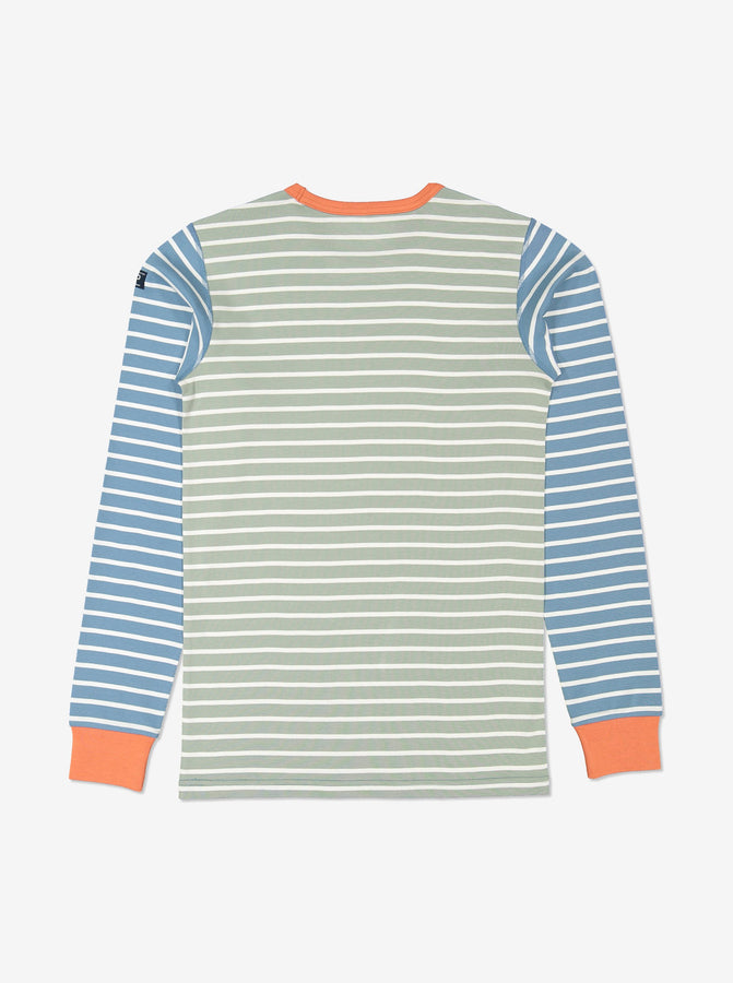 Orange Striped Adult Top