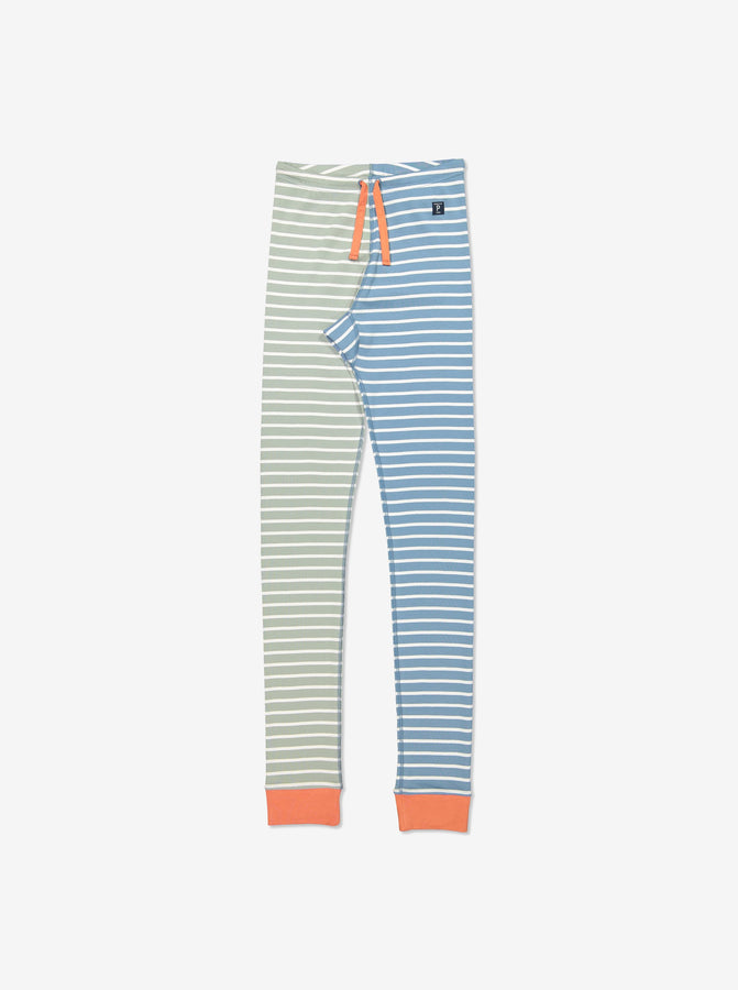 Orange Striped Adult Leggings